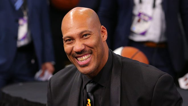 LaVar Ball the father of NBA prospect Lonzo Ball (not pictured) in attendance before the first round of the 2017 NBA Draft at Barclays Center.