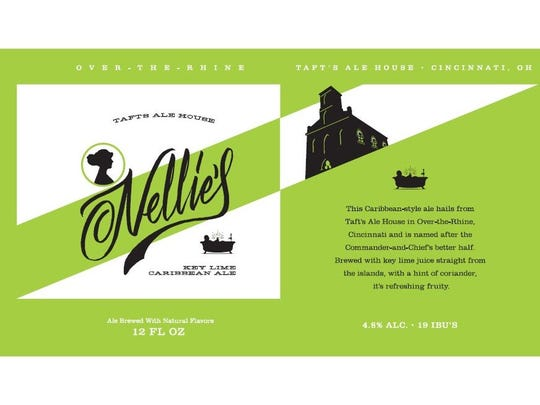 The design for Taft's Ale House's first canned beer, Nellie's Keylime Caribbean Ale.