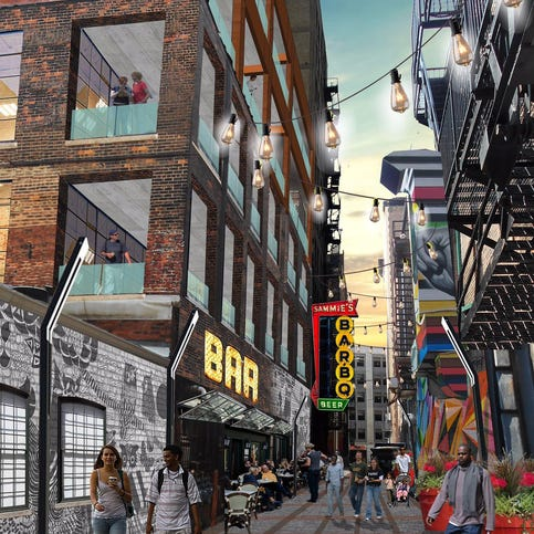 Restaurants, apartments planned for Broadway in Detroit