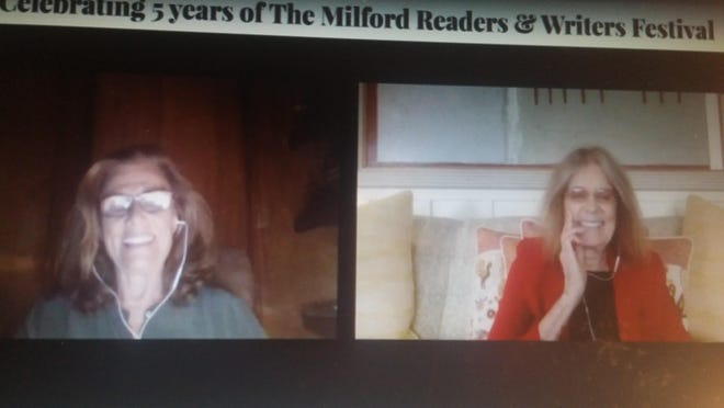 Suzanne Braun Levine and Gloria Steinem conversed about women's history in the first Milford Readers and Writers Festival to be held online.