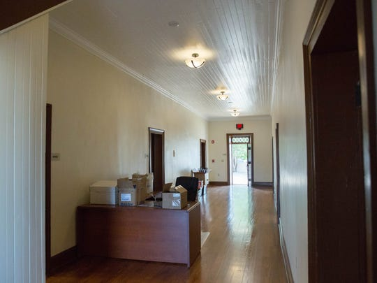 The main hallway of the historic Armijo House, where the Greater Las Cruces Chamber of Commerce is now located. Wednesday Aug. 30, 2017.