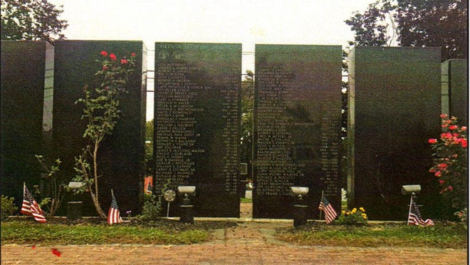 The Vietnam Veterans Memorial Wall stands in the Town of Wallkill Memorial Park at Highland Avenue Extension.