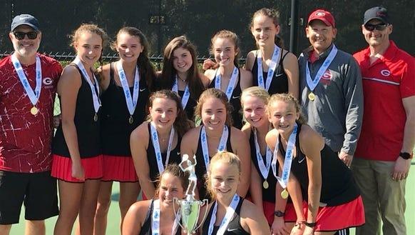 Greenville's girls tennis team won its second straight