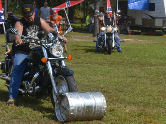Bikers have fun in 2015 with field games at Stock Law