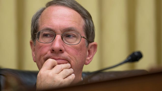 House Judiciary Committee Chairman Rep. Bob Goodlatte, R-Va., listens on Capitol Hill in Washington,  June 18, 2013, during a committee hearing.