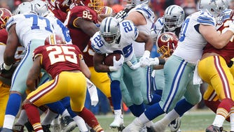 Cowboys RB DeMarco Murray (29) is now Dallas' all-time rushing leader for one season.
