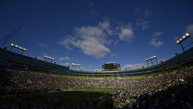 Lambeau Field before a Green Bay Packers game.