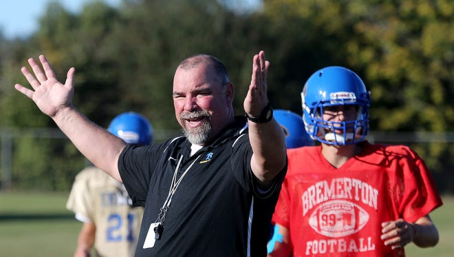 Paul Theriault is 13-7 in two years as head coach at Bremerton, with two playoff appearances under his belt. Bremerton football hasn't had that kind of sustained success in a long time.