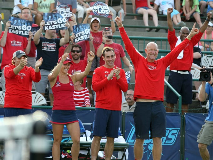 The Lasers against the Washington Kastles in the World Team Tennis Final at the Cooper Tennis Complex in Springfield on July 27, 2014.