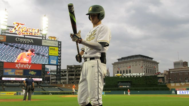 Howell's Sam Weatherly was 2-for-3 with a double and two RBI in the East-West All-Star Baseball Classic at Comerica Park on June 20, 2017.