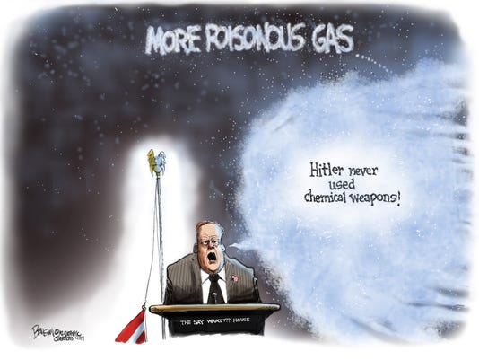 Spicer unleashes poisonous gas