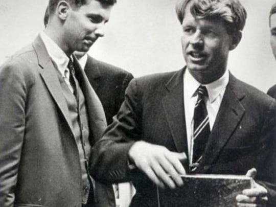 """Sam Beard is shown with Robert Kennedy. """"Fundamentally, I've always been a fighter for underdogs,"""" Beard said."""