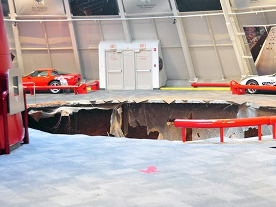 Another look at the 40-foot sink hole at the National Corvette Museum in Bowling Green.