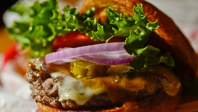 A hamburger is shown in this USA TODAY Network file photo.