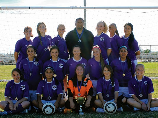 U-17 Alamogordo Girls Viper competed in the U-17 Las Cruces City Cup on May 16-17 and were crowned 1st place Champions. Girls include from left-to-right in front row are Harley Wise, Kayla Duran, Lennor Johnston, Kennedie Mirabal, Morgan Boyd.  Middle Row: Adriana Smith, Savannah Orosco, Genevieve Telles, Macee Trice, Celeste Gutierrez, Back Row:  Tamatha Wickre, Jessica King, Haley Carr, Coach Rudy Barbosa, Kristin Guin, Adriana Chenault, Stephanie Mercado.  Not pictured is Elisa Mercado.  Alamo Vipers traveled to El Paso to compete in the Paso Del Norte League Championships Friday, Saturday and Sunday.