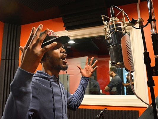 Philadelphia rap artist Lord Griffin recently visited York to record original music at Studio 117 in Royal Square. Studio 117 houses AK Beatz, an audio production studio,  as well as RB Studios, a photography/video production company.