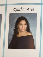 Cynthia Arce of Mamaroneck in her high school yearbook.