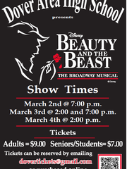 Dover will be performing Beauty and the Beast, but so will Central York High School.