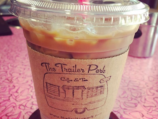 Iced Mexican Pueblo Mocha from Trailer Perk food truck.