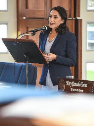 Sen. Mary Torres speaks during session at the Guam Legislature in Hagåtña on Wednesday, Dec. 28, 2016.