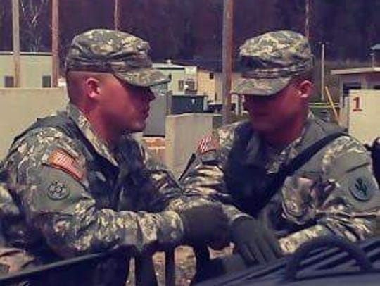 Twin brothers Bradley, left, and Brandon Boone served