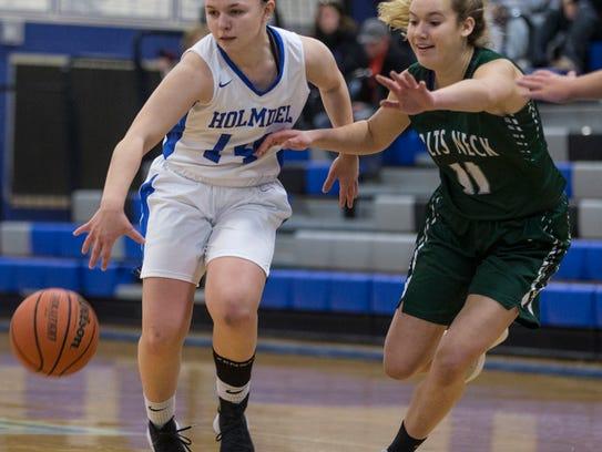 Colts Neck vs Holmdel girls basketball.  Holmdel,