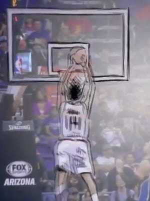 ESPN turned Gerald Green's dunk into an animation.