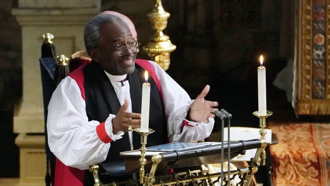 Rev. Bishop Michael Curry, primate of the Episcopal Church, infused Harry and Meghan's nuptials with a passion not usually seen at royal weddings.