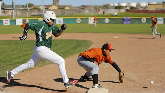 Gonzales takes on Ferrasci during the semis of the District 9 Little League All-Star tournament Tuesday in Gonzales.