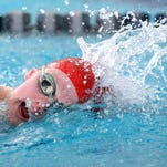 Tatiana Prendella of Bernards swims the 500 freestyle at the NJSIAA Women's Individual Swimming Championships, Sunday, March 1, 2015, at Gloucester County Institute of Technology in Sewell, NJ.