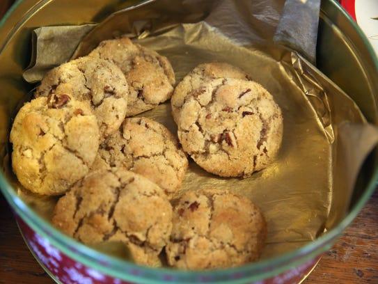 Ginger pecan cookies