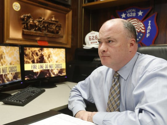 Barry McGoey, in his offices in Yonkers on Feb. 12,