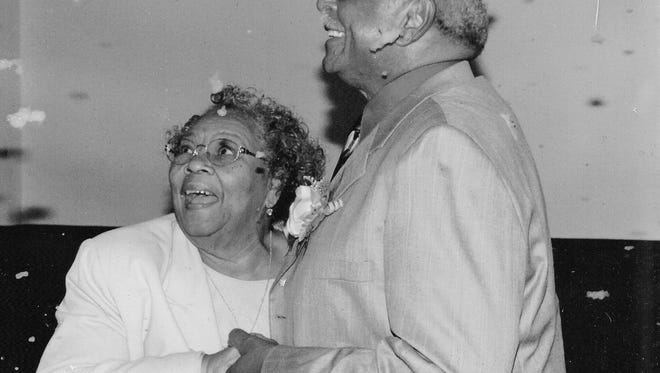 The Glovers at their 60th wedding anniversary, 10 years ago.