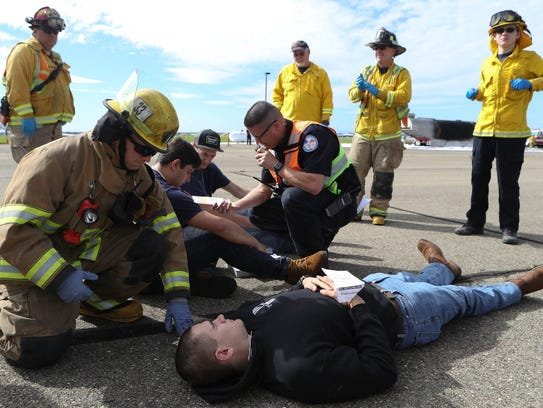 Redding firefighters and first responders train Friday