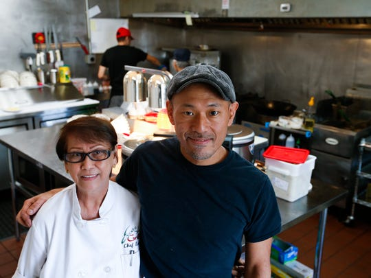 Letty Soriano, left, opened the Exotic Grill on Oct. 11, with chef and manager, Satoshi Hiromitsu. The new restaurant is serving Filipino and Japanese food.