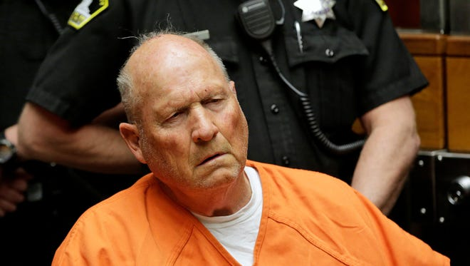 Joseph James DeAngelo, 72, who authorities suspect is the so-called Golden State Killer is arraigned, Friday, and on a suicide watch.