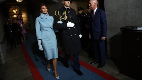 Melania Trump arrives on the West Front of the U.S.