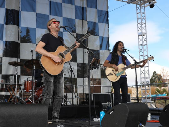 The Novelists perform during the Beer and Chili Festival