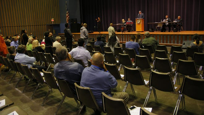 About 80 people attended a community listening session organized by the U.S. Department of Justice's Office of Community Oriented Policing Services on Tuesday at Sherwood Hall in Salinas.