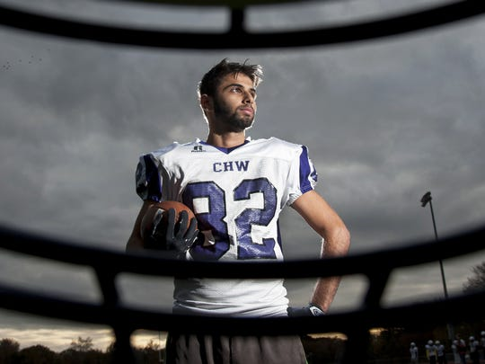 Cherry Hill West senior Hikal Mazahra, who moved back to New Jersey two years ago after five years in Jordan, is fulfilling his dream of playing football this season.