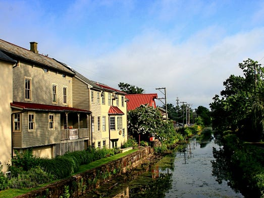 This historic Delaware Canal winds through New Hope,