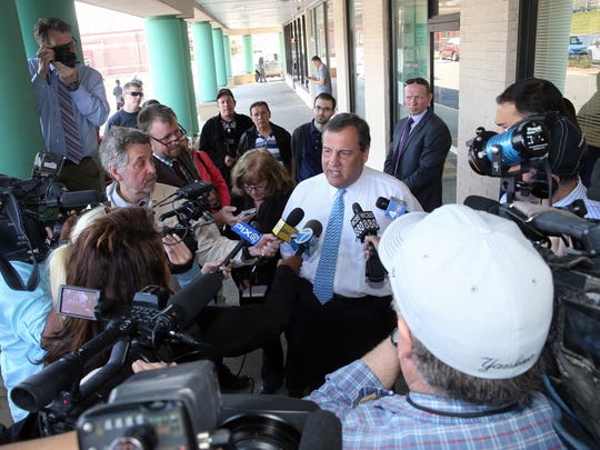 Gov. Chris Christie was on hand to help out Stacey
