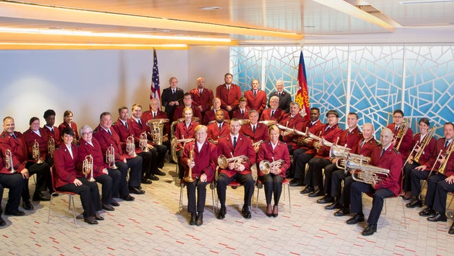 With nearly 40 members, the Chicago Staff Band is made up of cornets, horns, trombones, euphonium, bass, flugels, baritones and a percussion section. The band will perform in Fond du Lac on Nov. 4 and 5.