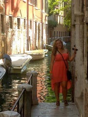 Kyle O'Grady of Edison, shown in Venice, Italy, says that she never felt safer than during her time studying abroad.