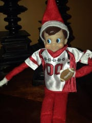 Tom, the mischievous Elf on the Shelf owned by the