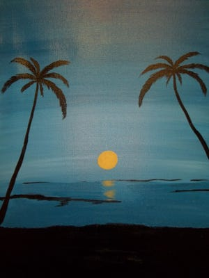 Paint this tropical scene at a workshop.