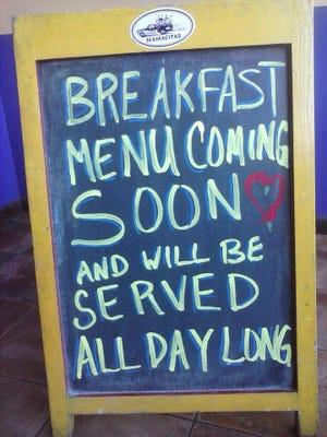 Mamacita's will start serving breakfast daily on Feb. 1.