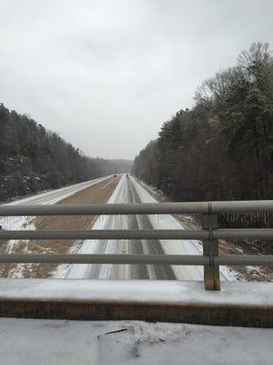 Interstate 40 in Kingston Springs.