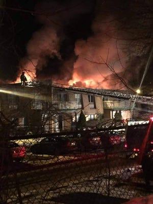 Apartment fire in Newburgh