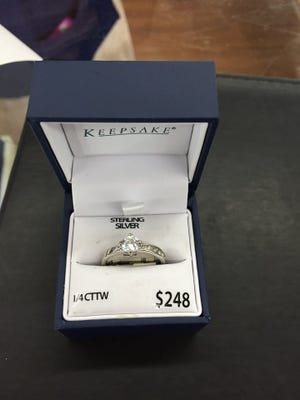 A ring like the one allegedly stolen by a suspect on March 30